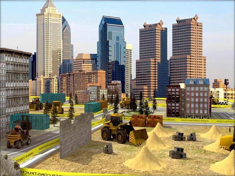 Mặt bằng thi công là thành phố