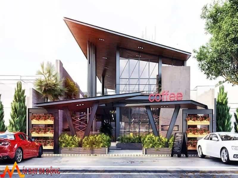 mái che quán cafe bằng tôn