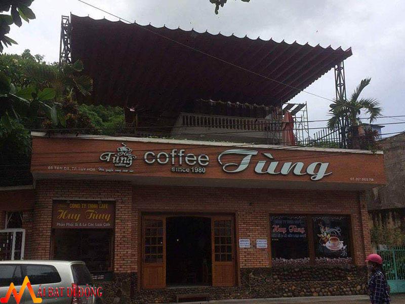 mái che nắng mưa cho quán coffee
