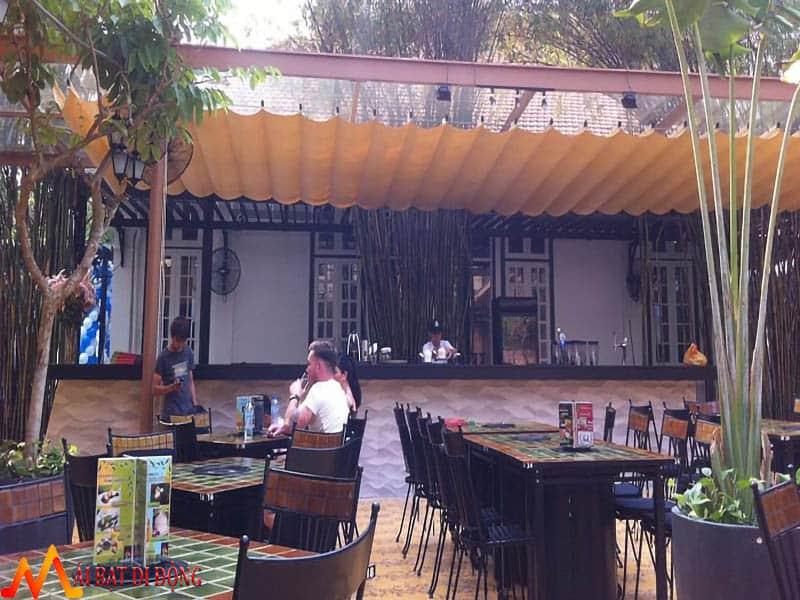 mái che quán cafe ngoài trời đẹp