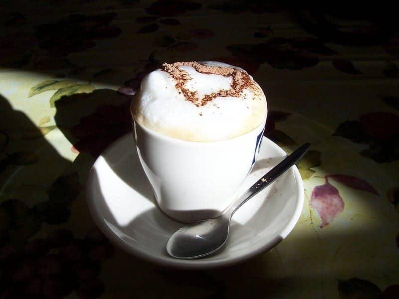 A bone dry cappuccino