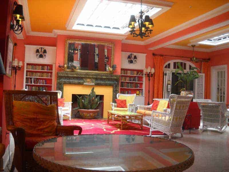 Things to do in Delray Beach: Lobby of historic Colony Hotel in Delray Beach. The same family has owned the hotel since 1935. The open-air lobby still isn't air conditioned. (Photo: Bonnie Gross)