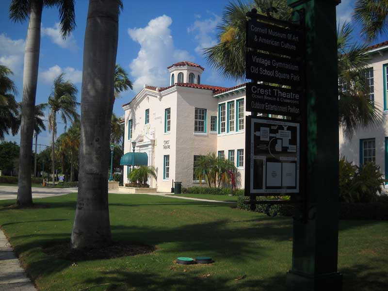 Things to do in Delray Beach: Historic Old School Square . (Photo: Bonnie Gross)