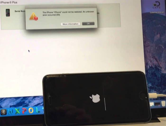 Apple iPhone 6 iTunes error 53