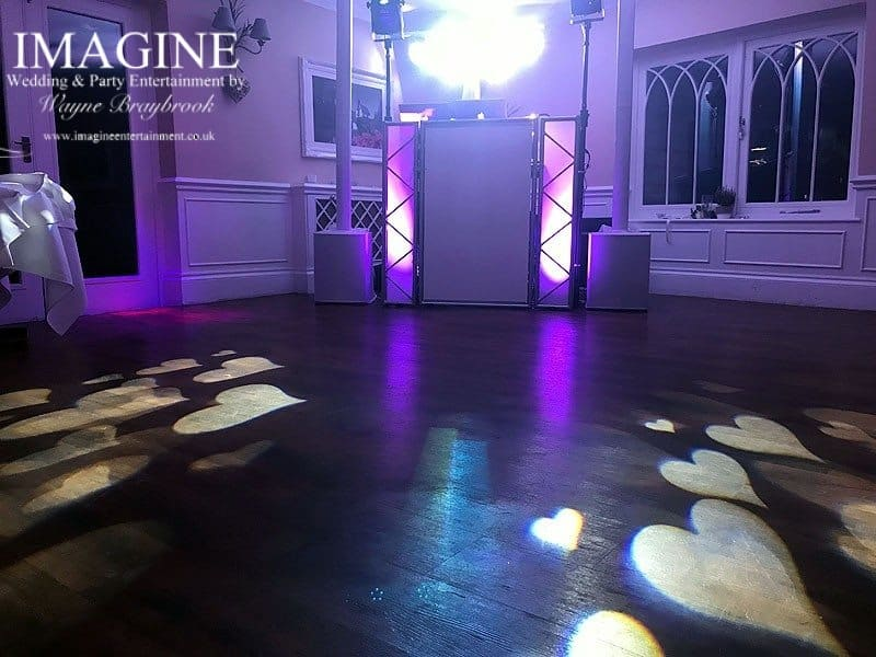 Jamie & Gareth's wedding reception at The Sheene Mill