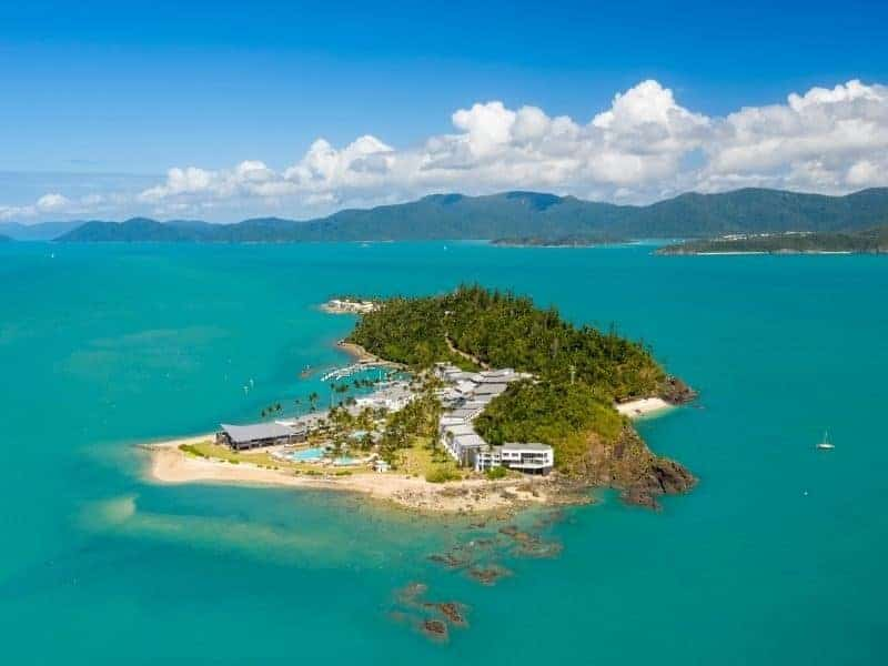Aerial image of Daydream Island in the Whitsundays