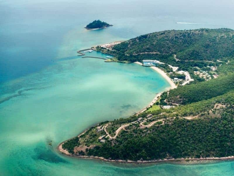 Aerial image of Hayman Island Resort in the Whitsunday Region