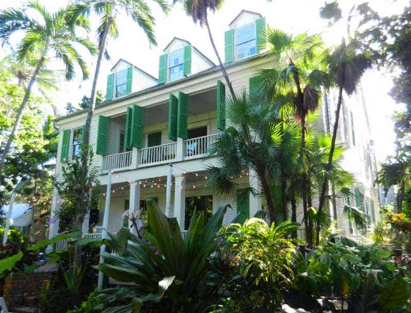 The 1830 Key West Audubon House, viewed from its back yard.