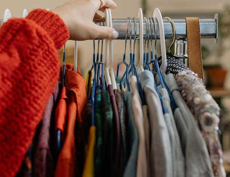 Buying second hand saves new items needing to be produced