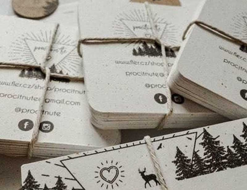 mini recycled business cards