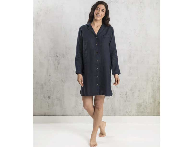 Bhumi organic linen night shirt