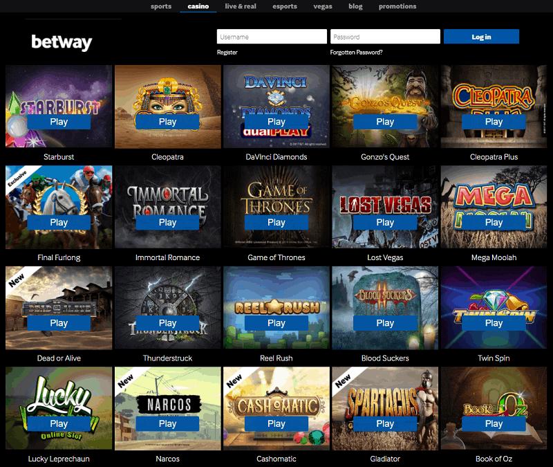 Betway Casino Website Review