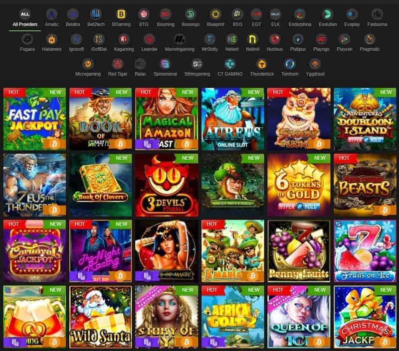 Fastpay Casino snapshot of website