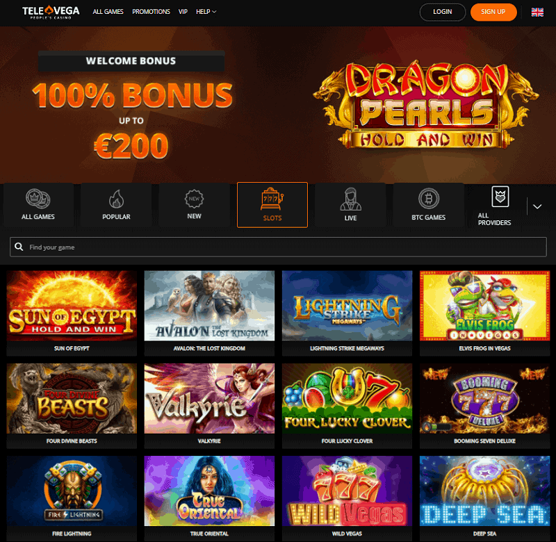 TeleVega Casino Review Page
