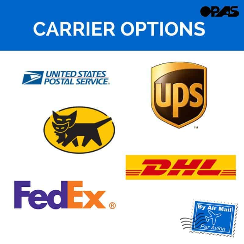 OPAS Shipping Rates – Let's take a look at the carrier options you have with OPAS!