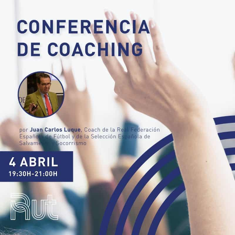 cartel conferencia de coaching, residencia universitaria en malaga, Rut