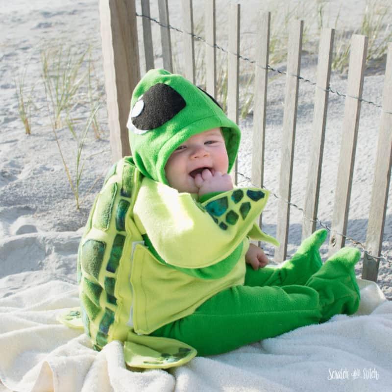 Make a Sea Turtle Baby Costume 1