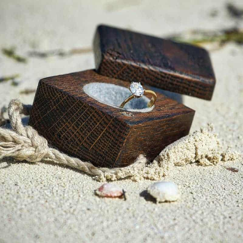 Ring in a run box on the beach. Romantic dinner cruise for two Charleston, SC