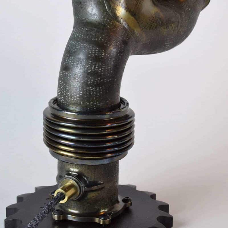 Upcycled F1™ Ferrari/Marussia Exhaust Manifold Table Lamps #807