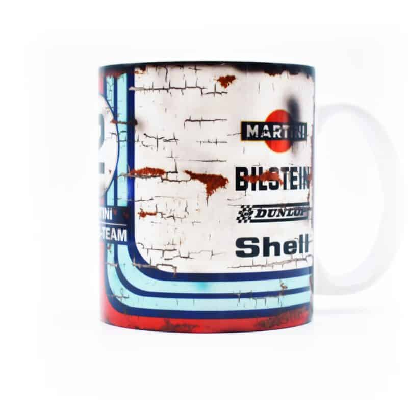 Set of 4: Classic 24 Hours of Le Mans Race Car Mugs / Martini / Rothmans / Sunoco / Gulf Racing / 24H / Vintage / 956 / 917K / 962