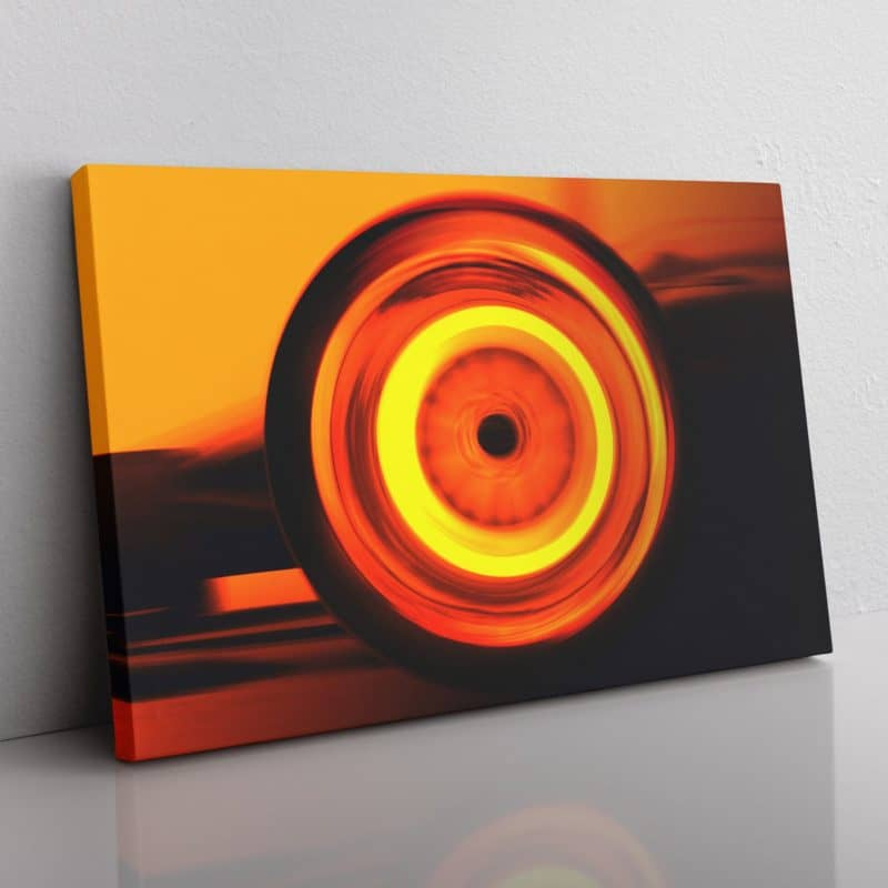Wheels in motion F1 canvas - Available in multiple colours