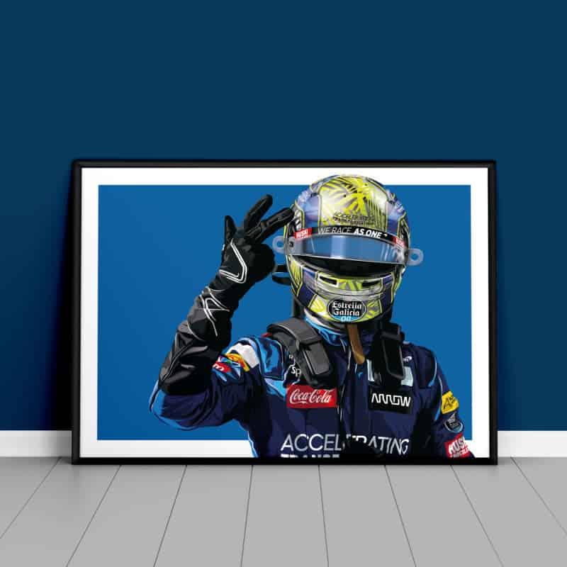 Lando Norris Podium 2020 Austrian Grand Prix Poster