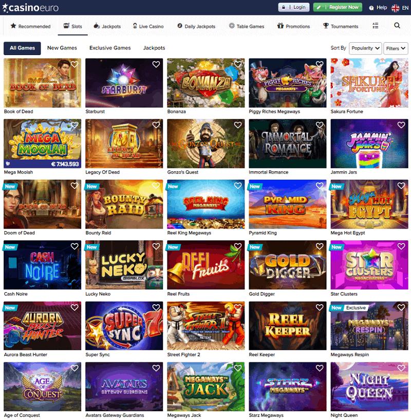 Casino Euro Website Review