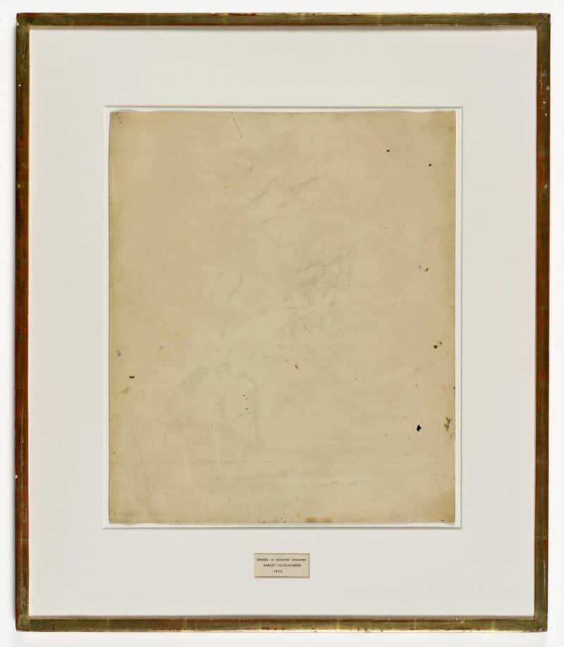 Erased de Kooning Drawing (1953) by Robert Rauschenberg