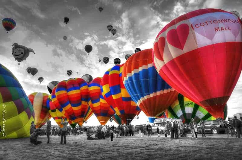 colorful balloons at the Albuquerque International Balloon Fiesta