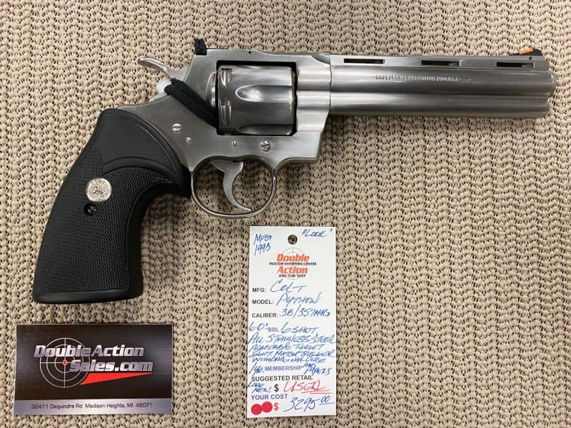 colt python like new condition for sale