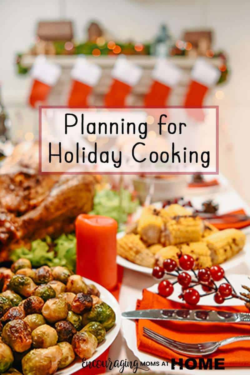 Look at this table full of food! Is Preparing Ahead for Holiday Cooking the most stressful part of your celebration? Use our tips and ideas to streamline the process and enjoy the fun!