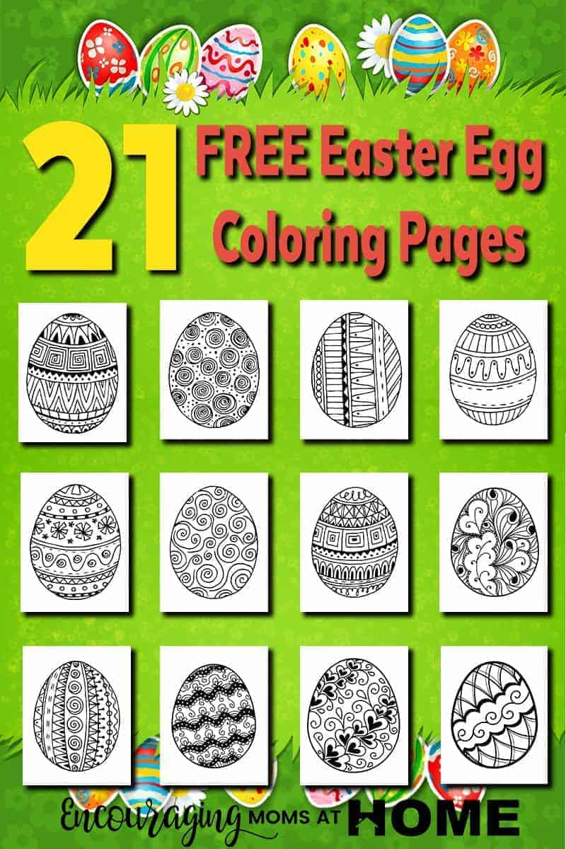 Our free Easter Egg Coloring Pages are a fun way your kids to be creative while considering the true meaning of the season.