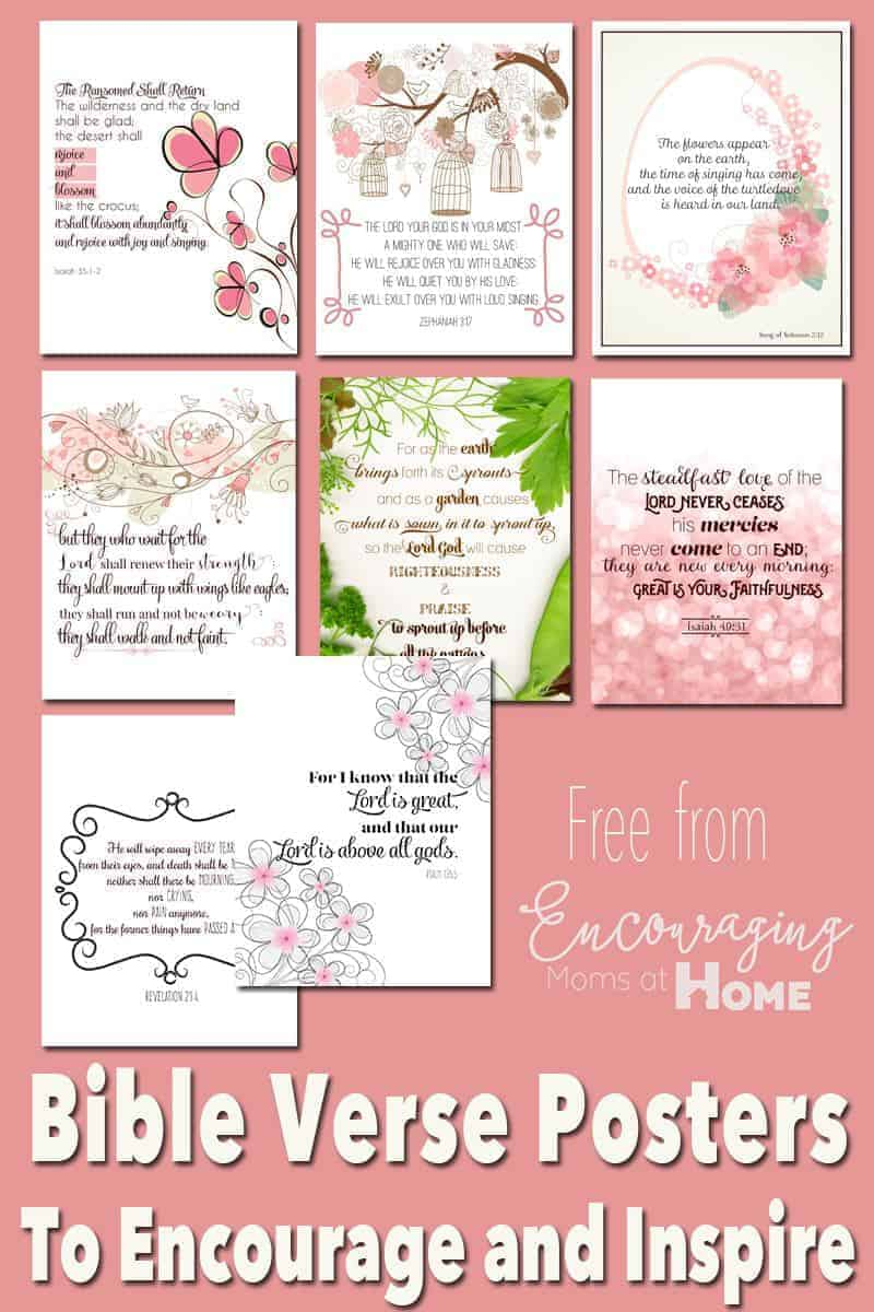 Are you tired? Discouraged? Allow God's word to encourage and inspire you with these FREE printable Bible verse posters and cards.