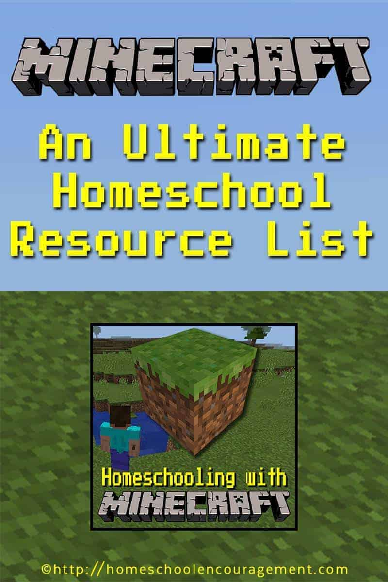 Here is your one stop shop for resources to homeschool with Minecraft.  We've included links to printables, on-line courses, books, and more.  #homeschool #minecraft