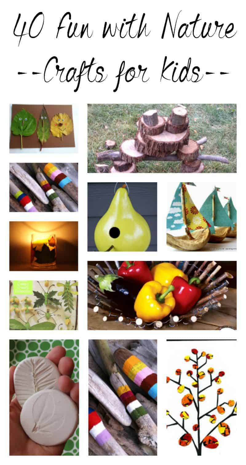 Does your kids love nature? Here are 40 fun ideas for nature crafts kids can do.