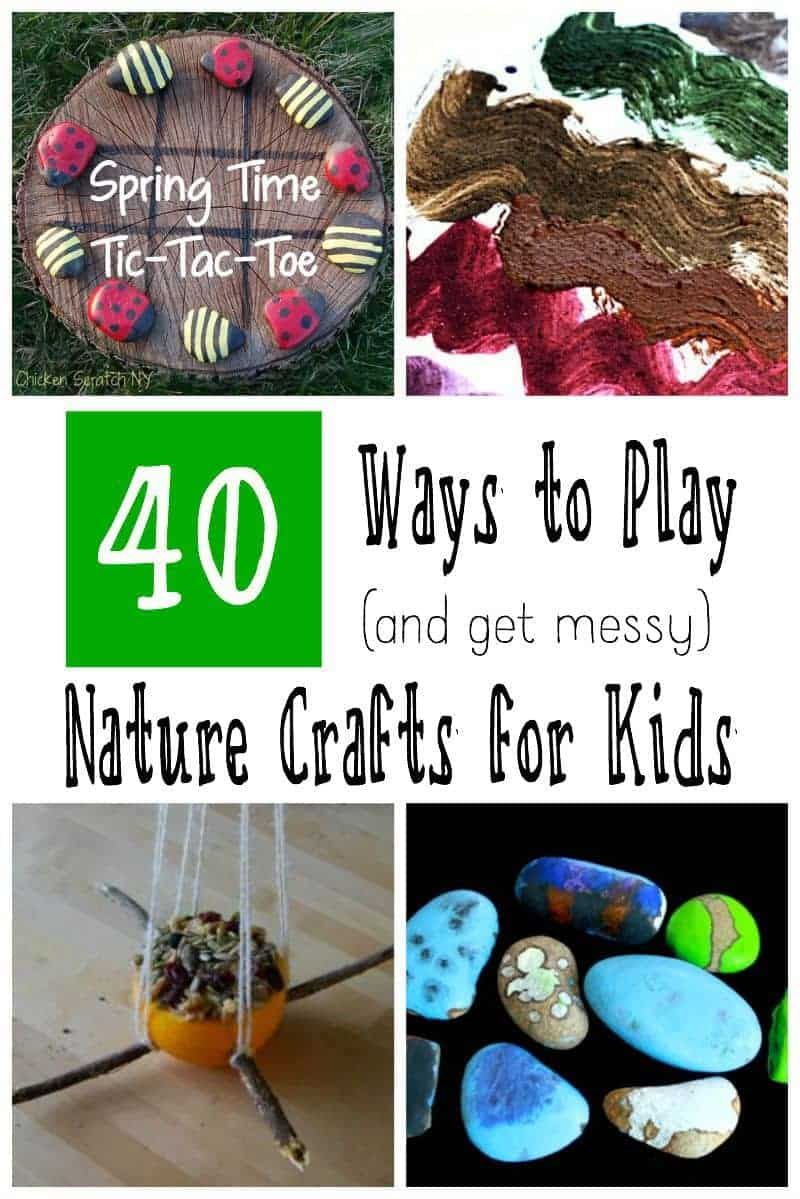 40 Ways to Play Nature Crafts for Kids - 40 Fun Ideas - Nature Crafts for Kids - Beautiful Art