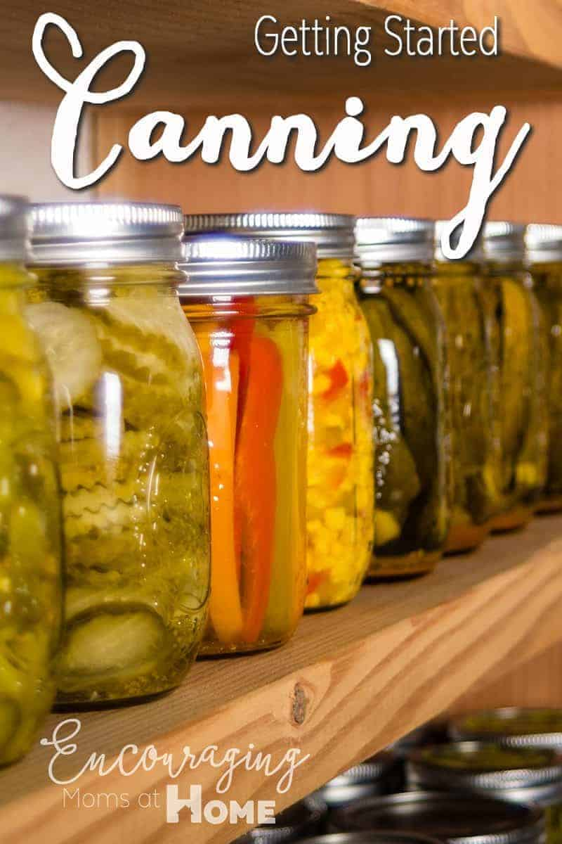 Do you have a garden and don't want to see the bounty of it go to waste?  Try canning your fresh produce so that you can enjoy it year round. Here are tips for getting started.