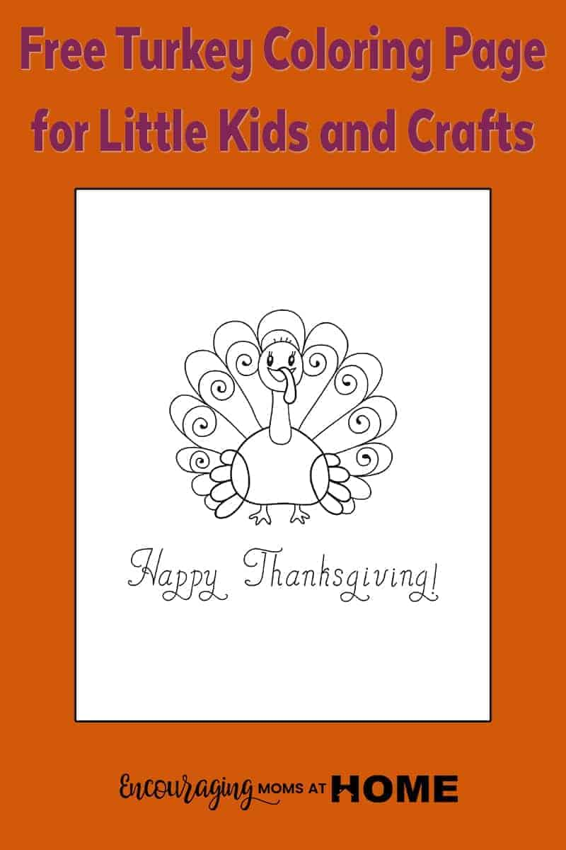 Looking for a coloring page for litle kids this Thanksgiving?  Take a look at our turkey coloring page that is perfect for little kids.