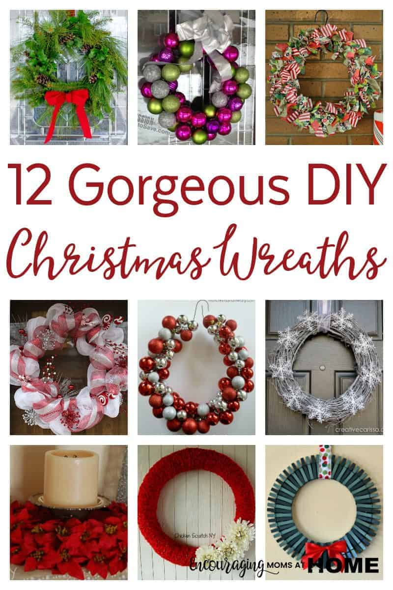 Are you looking for the perfect wreath for your front door this Christmas? Have you considered making it yourself. Here are 12 beautiful DIY Christmas Wreaths for you to make this Christmas.