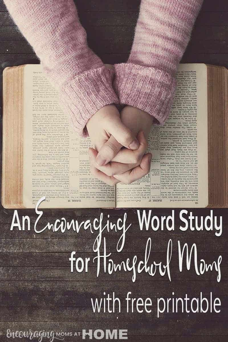 A word study is a great way to learn and to keep you focused, especially in your homeschool.