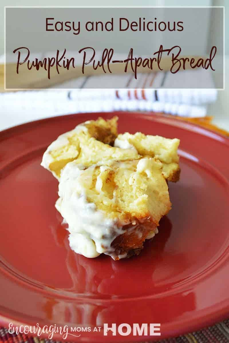 Looking for an easy and delicious breakfast recipe for your family? Try this pull apart bread with a rich and creamy cream cheese frosting. It is super easy to make and a perfect pumpkin recipe to enjoy for breakfast or dessert.