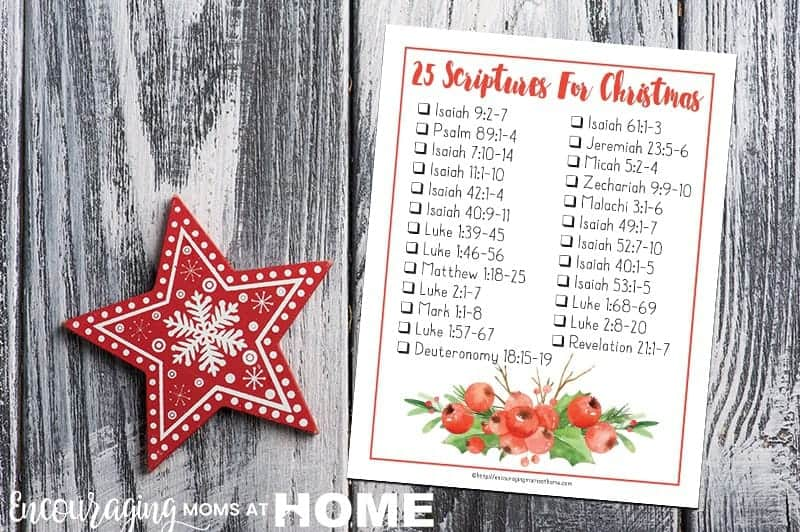 Do you need something to help your family focus on Christ, His birth, and His purpose during the holiday season? Try this daily Bible Verse Checklist that can be read throughout December. With 25 verses in all, it can be used to celebrate Advent or as a great tool to keep your focus on the true meaning of Christmas.