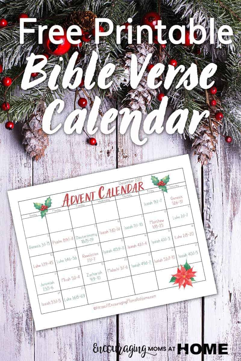 Are you looking for a way for your family to focus their attention on Jesus every day leading up to Christmas? Take a look at our FREE Bible verse Advent calendar is a great resource to add meaning to your celebration. It has a scripture for every day that will help your family remember that HE is the reason for the season.