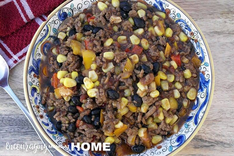 THM Tex Mex Chili in a bowl - Trim Healthy Mama