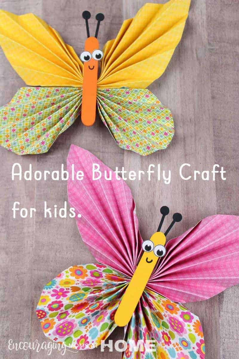 Adorable Preschool Butterfly Craft for kids. Older kids can do this one too! Also a complete #preschool #butterfly unit is included in this post. #themelearning