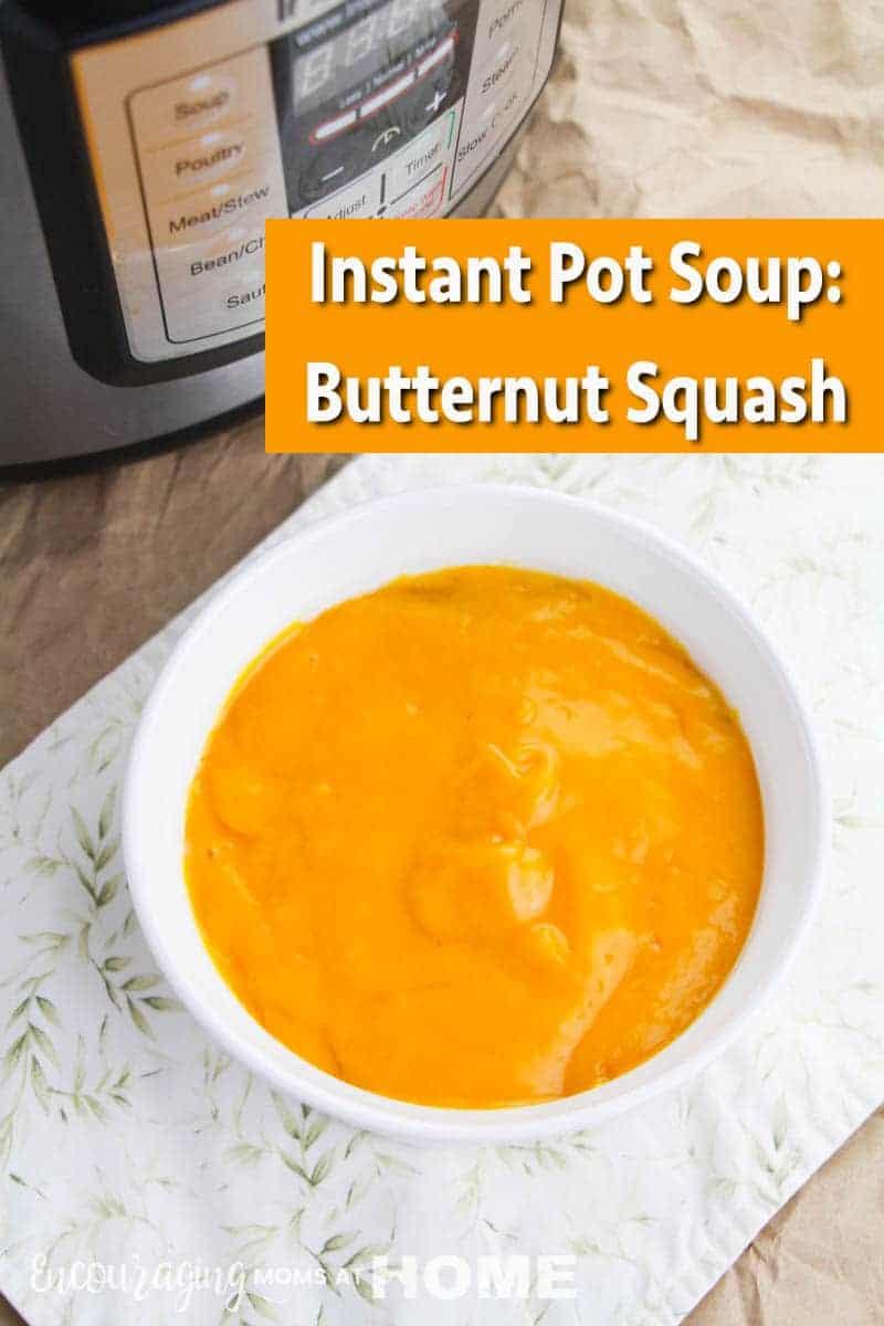 Instant Pot Butternut Squash Soup - perfect in the pressure cooker! #soup #fallsoup #instantpot #instantpotrecipes