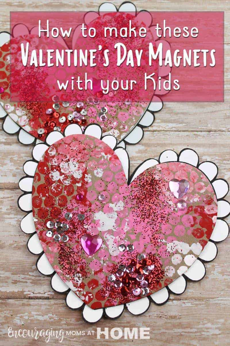How to make these Valentine's Day Magnets - a beautiful heart craft for kids to make!