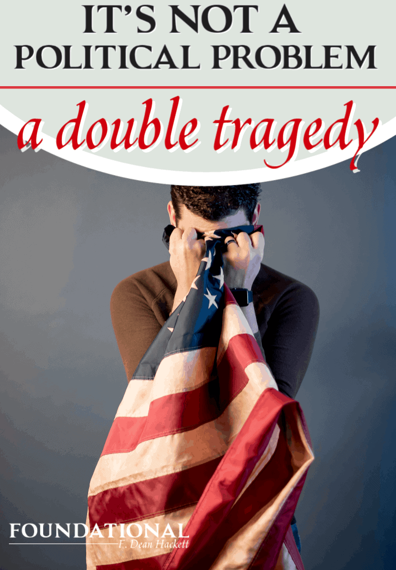 The problem facing America and the Christian church today isn't a political problem. There is a double tragedy facing an absent church in society today. #Foundational foundational #politics #political #revival #abortion #homosexuality #postmodern #church