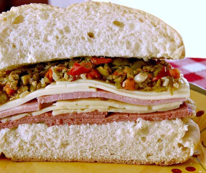 Muffuletta Sandwich on a plate