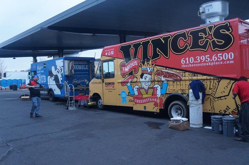 Vince's Cheesesteaks Truck at the philly cheesesteak festival